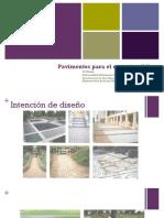 Pavimentos para el espacio publico