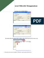Cara Konfigurasi Mikrotik Menggunakan Winbox