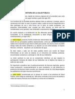1. 2 Historia de La Salud Publica