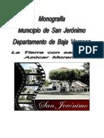 Monografia del Municipio de San Jerónimo, Baja Verapaz
