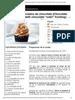"""Hoja de Impresión de Cupcakes Especiados de Chocolate (Chocolate Spice Cupcake With Chocolate """"Swirl"""" Frosting)"""
