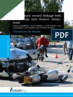 Probabilistic record linkage with the Fellegi and Sunter framework