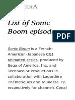 List of Sonic Boom Episodes