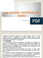 As Formas Nominais Do Verbo