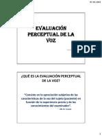 10Ev. Perceptual de La Voz