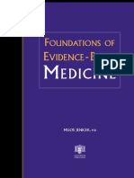 Foundatios of Evidence Based Medicine