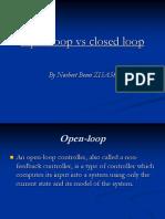 Control Engineering - Open vs Closed Loop