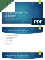 La Clasificación de Sermones