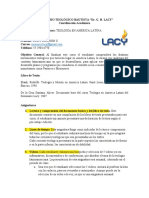 Plan de Estudios - Teologia en America Latina
