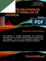 resortes helicoidales planos y tornillos de potencia