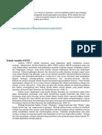 Analisis IFAS Dan EFAS