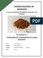 Preinforme N°1 Quimica industrial 2 FIIS UNI