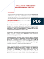 Proyecto Parque Eolico (Jorge Carranza)