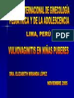 Vulvovaginitis en Niñas Puberes