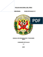 Manual Organizacion y Funciones Comisaria Pnp Salas