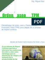 ORDEN Y ASEO Y TPM