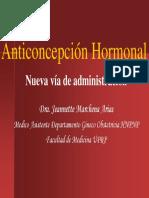 Anticoncepcion Hormonal Nuevas Vias de Administracion