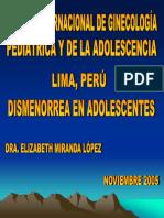 Dismenorrea en Adolescentes