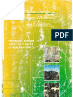 Evaluacion de Los Distritos Mineros Del Ecuador