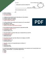 4° Evaluación avance 2