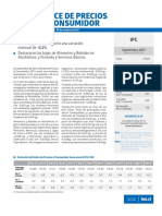 Boletín Índice de Precios Al Consumidor (Ipc) Septiembre 2017