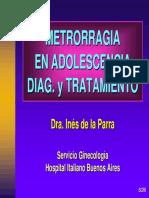 METRORRAGIA EN ADOLESCENCIA DIAGNOSTICO Y TRATAMIENTO .pdf