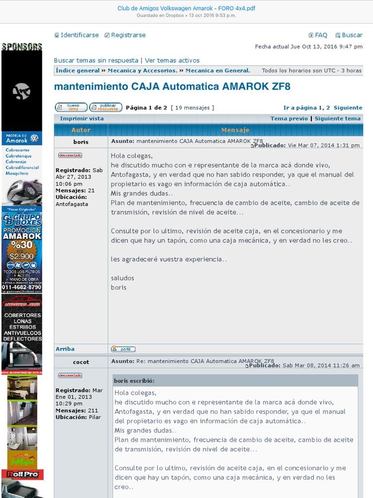 d3e93ddacd Club de Amigos Volkswagen Amarok - ForO 4x4