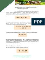 RELACIÓN ENTRE CALOR ESPECÍFICO A PRESIÓN CONSTANTE Y VOLUMEN CONSTANTE.pdf