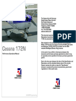 Cessna 172 N Performance Operational Manual