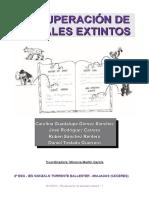 Recuperación de animales extintos