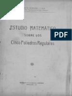 Carbonell - Estudio de 5 Poliedros Regulares
