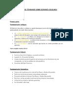 Propuesta de Itinerario Sobre Economía Solidaria
