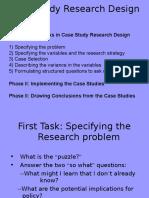 Bennett's Research Design Tasks