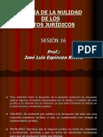 Sesion 16 Teoria de La Nulidad de Los Actos Juridicos1