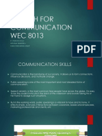 01 Speaking Skills WEC 8013