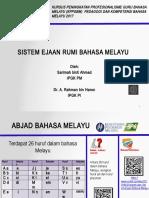Sistem Ejaan Rumi Bahasa Melayu Presentesion