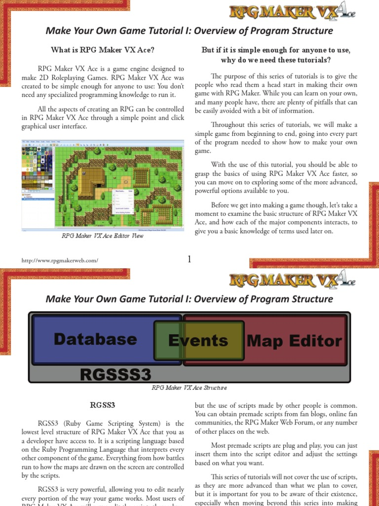 RPG maker Tutorial | Perspective (Graphical) | Scripting
