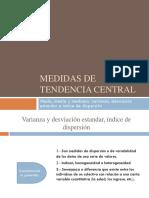 Presentacion 4 Medidas de Tendencias Central