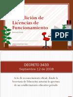 Decreto 3433 Licencias de Funcionamiento.ppt