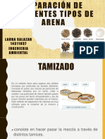 Separación de Diferentes Tipos de Arena