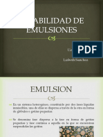 Estabilidad de Emulsiones