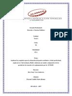 Analizan Los Requisitos Para La Obtención Del Grado Académico y Título Profesional, Según La Ley Universitaria 30220 y Elaboran Un Cuadro Comparativo de Los Productos de Acuerdo a Lo Reglamentado Por La SUNEDU.