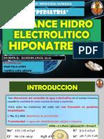 Balance Hidro Electrolitico Hiponatremia