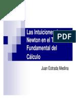 Las Intuiciones de Newton en el Teorema Fundamental del Cálculo