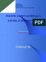 Unidad III-IV-V Politica Educacional