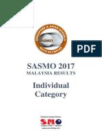 Sasmo 2017 Malaysia Results Individual Category v4