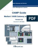 LTRT-94953 Mediant 1000 Gateway and E-SBC OAMP Guide Ver. 6.8