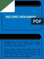 Record dan Pointer