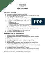 KAHUNA Rental Pool Summary With Example