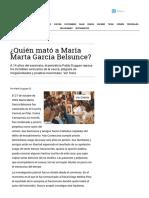 ¿Quién Mató a María Marta García Belsunce- - Revista Noticias